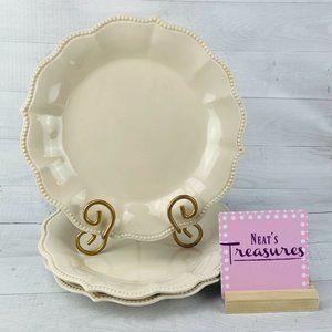 Pioneer Woman LINEN OFF WHITE Dinner Plates Set 3